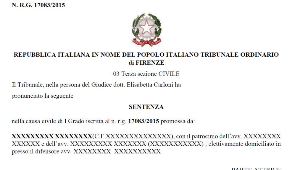 Sentenza Tasso Leasing- Tribunale di Firenze 17 Marzo 2021