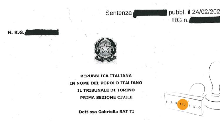 Tribunale di Torino Sentenza 869 2021 del 24 02 2021
