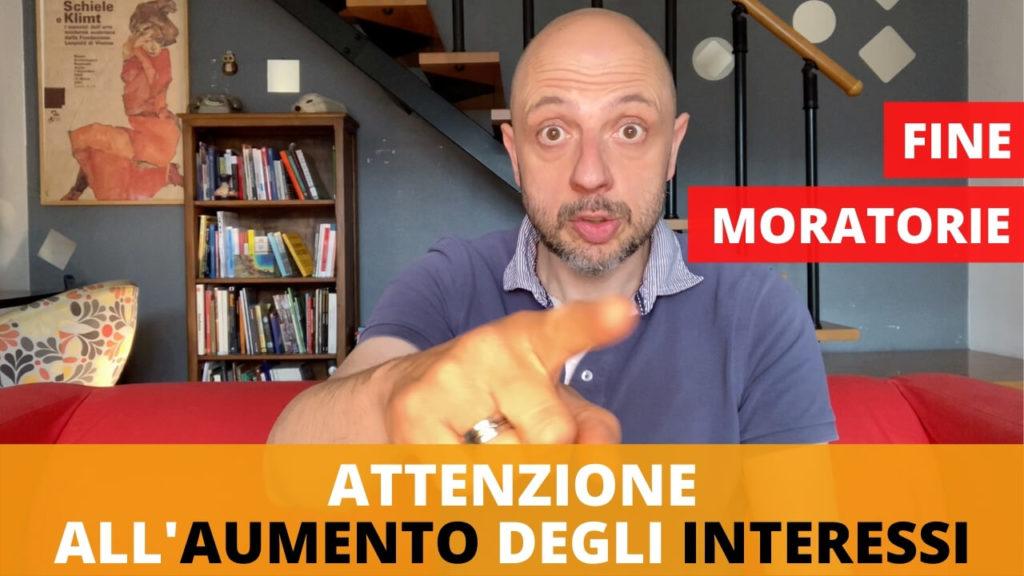 Fine delle moratorie del cura italia